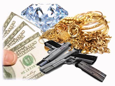 We buy gold, diamonds, jewlery, guns, and more